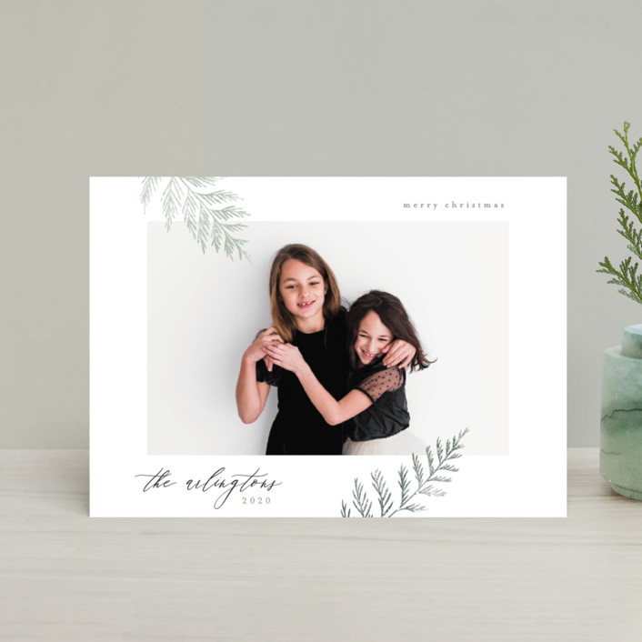 """Minimal Elegance"" - Holiday Petite Cards in Snow by Kelly Schmidt."