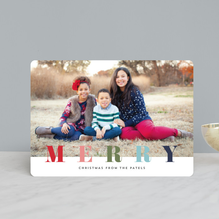 """multi merry"" - Holiday Petite Cards in Raspberry by Stacey Meacham."