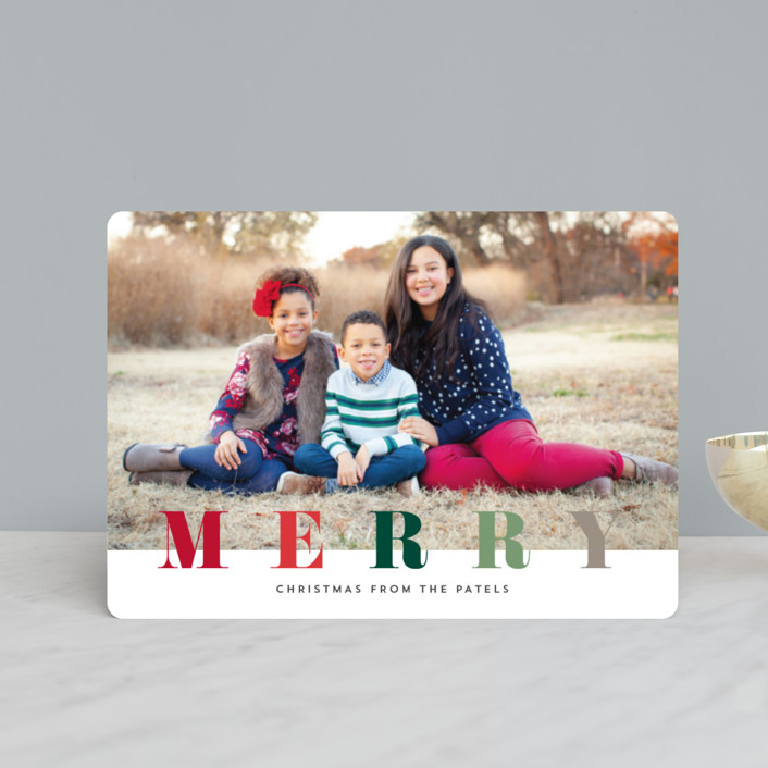 """""""multi merry"""" - Holiday Petite Cards in Puddle by Stacey Meacham."""