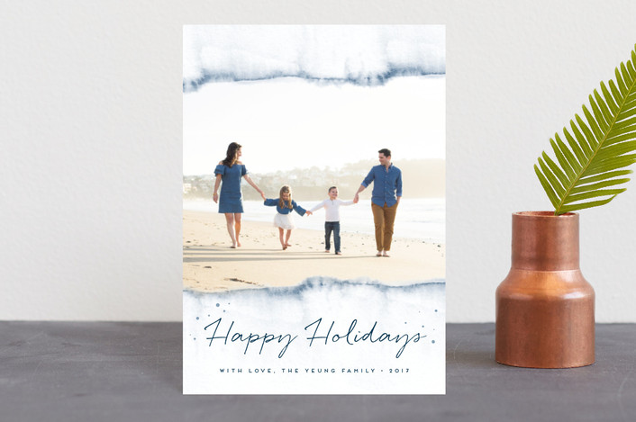 """Watercolored Holiday Magic"" - Holiday Petite Cards in Sapphire by Maria Hilas Louie."