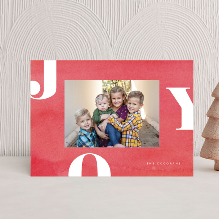 """""""Letters of Joy"""" - Holiday Petite Cards in Peppermint by Jessica Maslyn."""