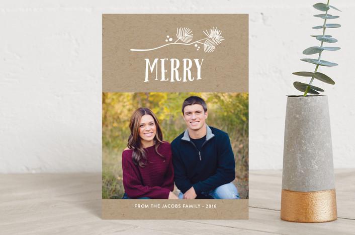 """""""Noel Sprig"""" - Holiday Petite Cards in Snow by Erin Deegan."""