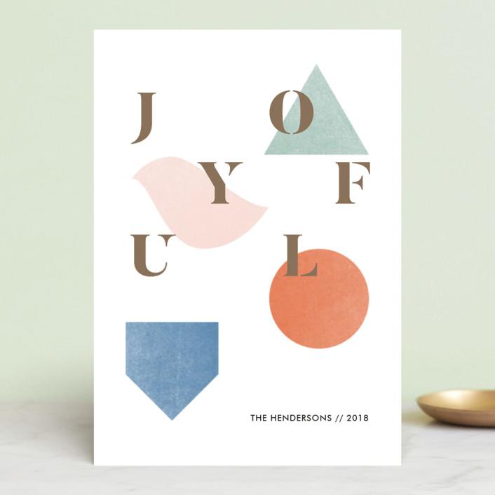 """Geel"" - Modern Holiday Petite Cards in Marmalade by Aspacia Kusulas."