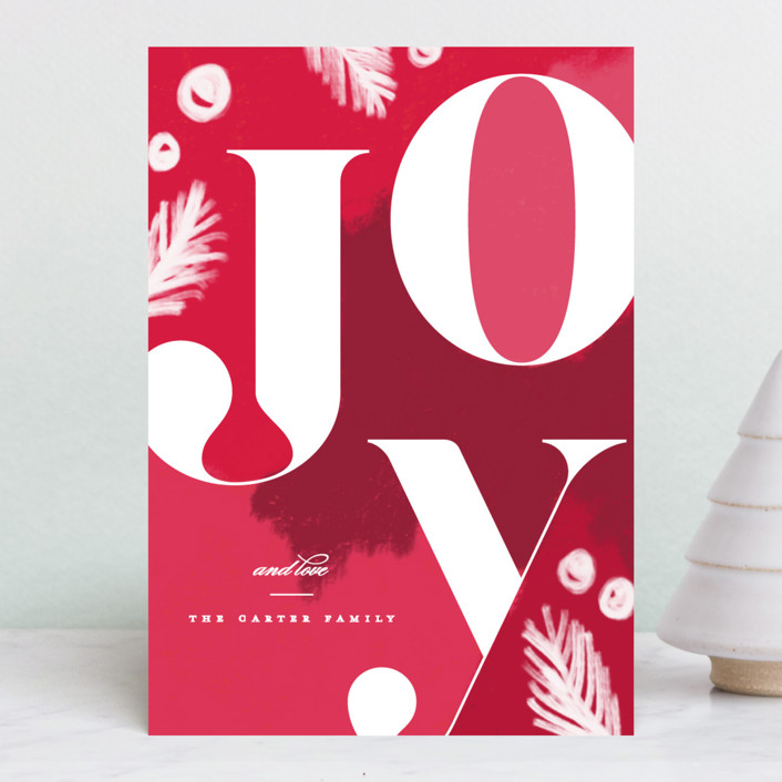 """Artsy joy"" - Holiday Petite Cards in Cherry by Creo Study."