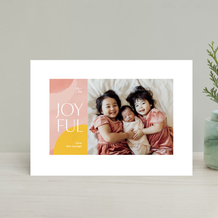 """Artsy Joyful"" - Modern Holiday Petite Cards in Candy by Monika Drachal."