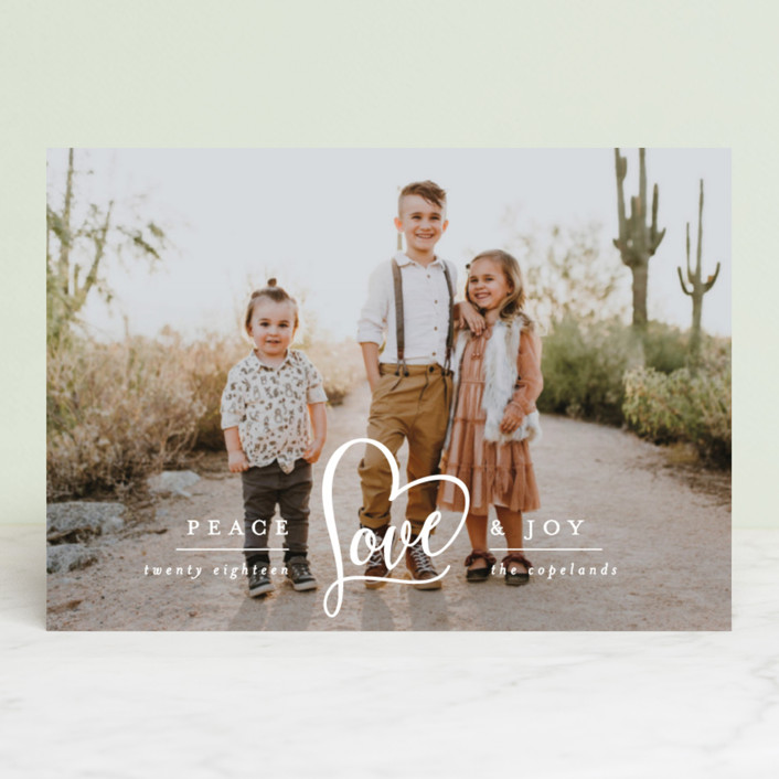 """Peace Heart & Joy"" - Holiday Petite Cards in Snow by Hooray Creative."