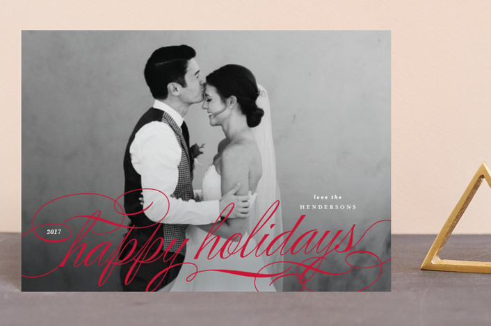 """Most Elegant"" - Holiday Petite Cards in Ruby by Lauren Chism."