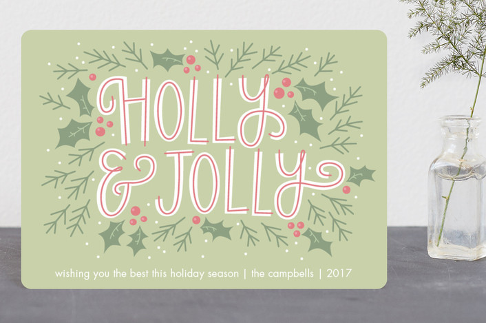 """Holly and Jolly"" - Vintage Holiday Petite Cards in Sage by Kristin Sosa."