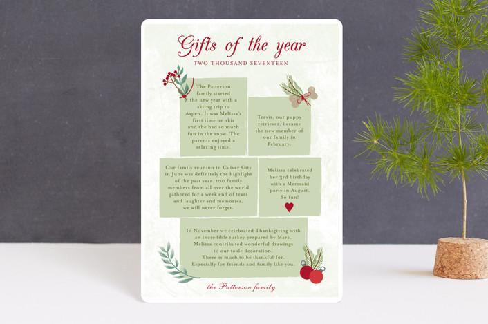 """""""Christmas story"""" - Vintage Holiday Petite Cards in Jade by frau brandt."""