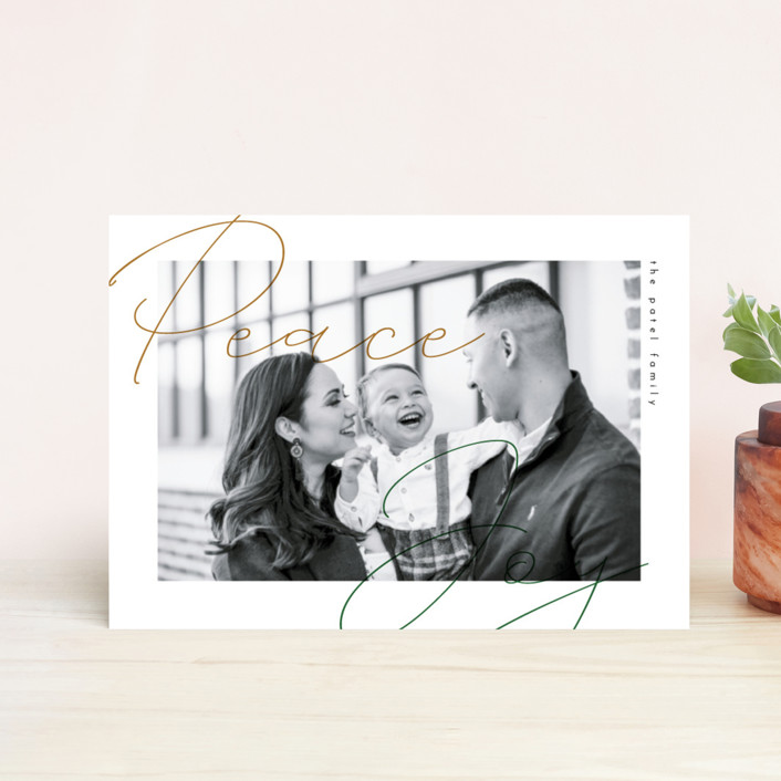 """Modern Overlay"" - Holiday Petite Cards in Pine by Bonjour Berry."