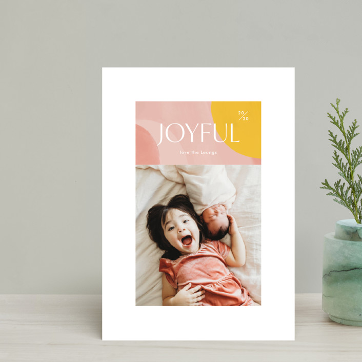 """Artsy Joyful"" - Modern Holiday Petite Cards in Candy by Monika Drachal."