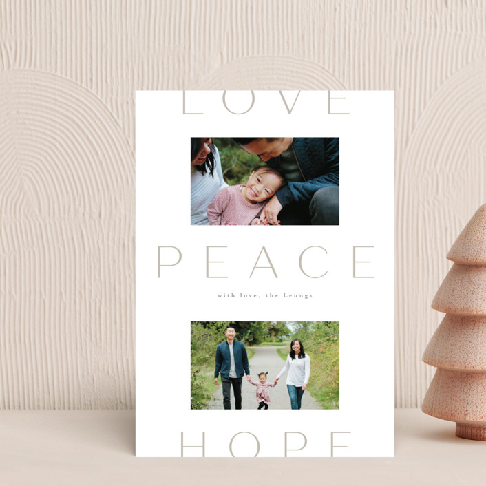 """""""Peace to You"""" - Holiday Petite Cards in Snow by Amy Kross."""