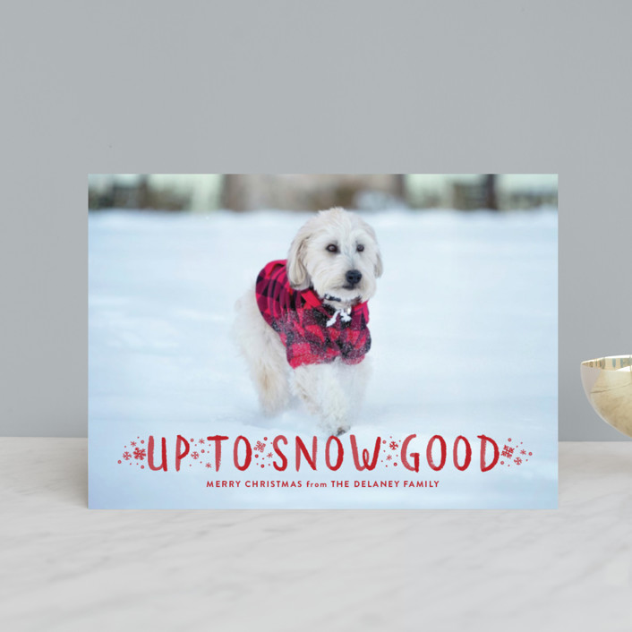 """Snow Good"" - Holiday Petite Cards in Snow by Sarah Brown."