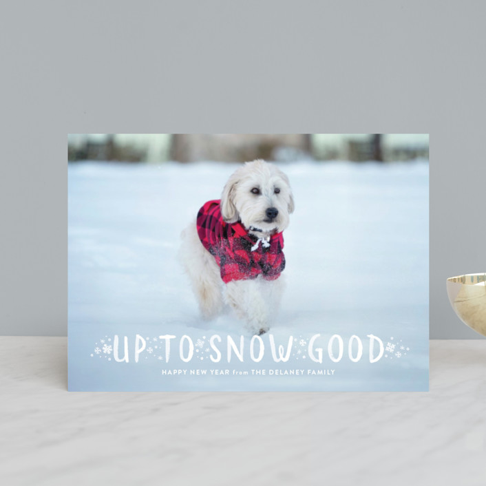 """Snow Good"" - Holiday Petite Cards in Cranberry by Sarah Brown."