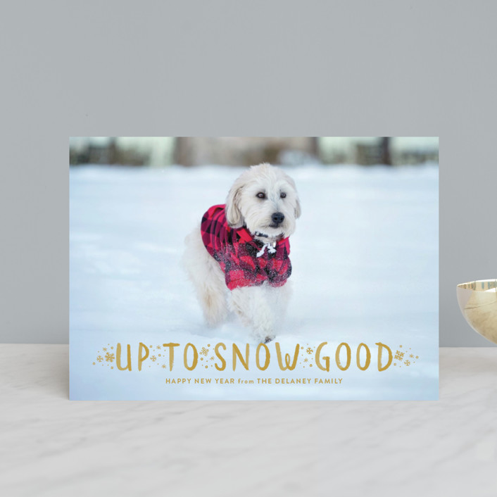 """""""Snow Good"""" - Holiday Petite Cards in Cranberry by Sarah Brown."""