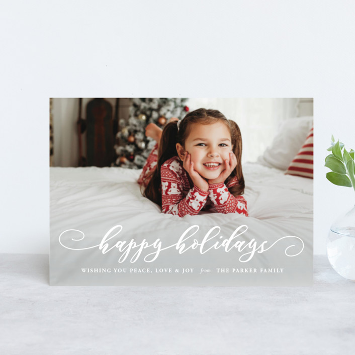"""""""Holiday Spirit"""" - Holiday Petite Cards in Snow by Coco and Ellie Design."""