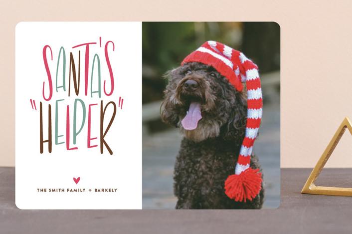 """Santa's Helper"" - Funny Holiday Petite Cards in Blitzen by Three Kisses Studio."