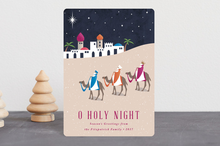 """Bethlehem"" - Holiday Petite Cards in Fuschia by Kampai Designs."