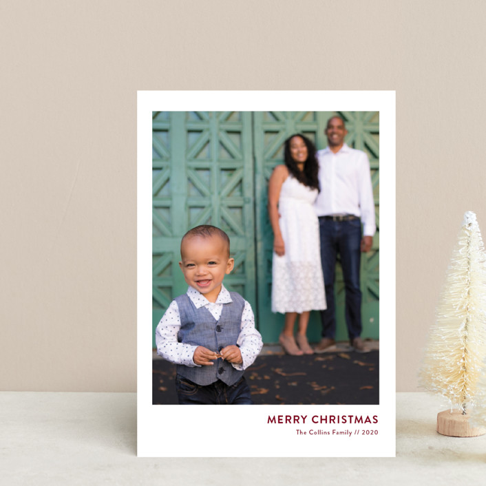 """""""Mod Christmas"""" - Holiday Petite Cards in Merlot by Christie Kelly."""