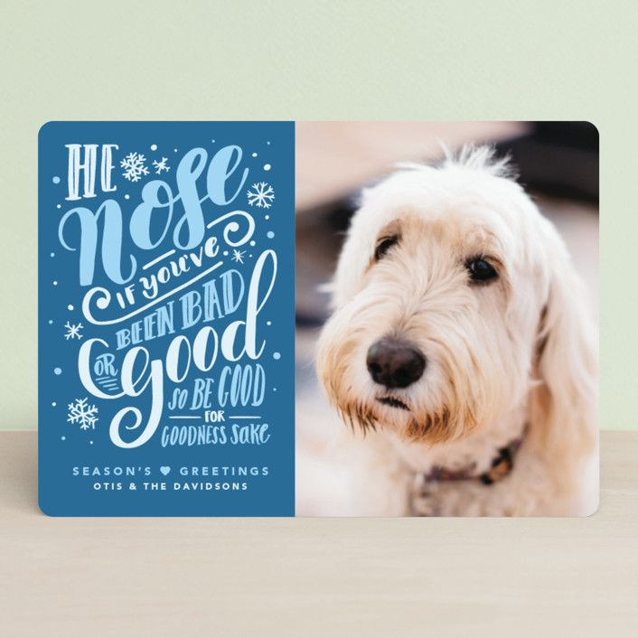 """""""He Nose"""" - Funny Holiday Petite Cards in Balsam Fir by Gina Grittner."""