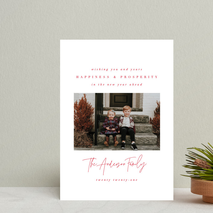 """""""Genuine Love"""" - Holiday Petite Cards in Peppermint by Ana Sharpe."""