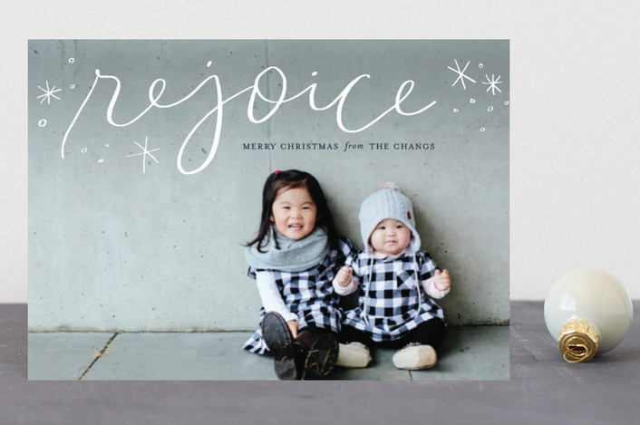 """""""Legato Rejoice"""" - Holiday Petite Cards in Marshmallow by Frooted Design."""