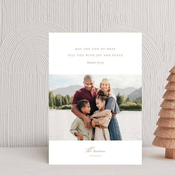 """""""Romans 15:13"""" - Holiday Petite Cards in Golden by Jessica Williams."""