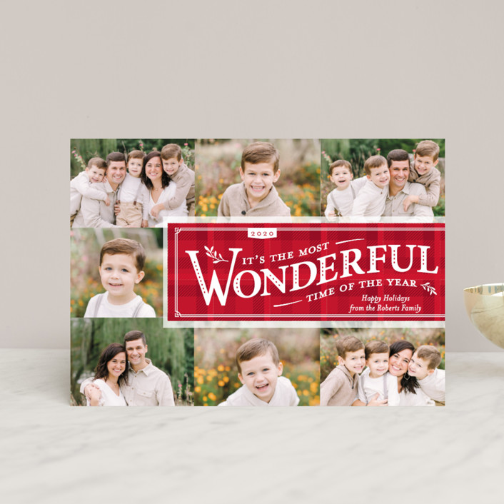 """Time-Honored"" - Vintage Holiday Petite Cards in Holly by Paige Rothhaar."