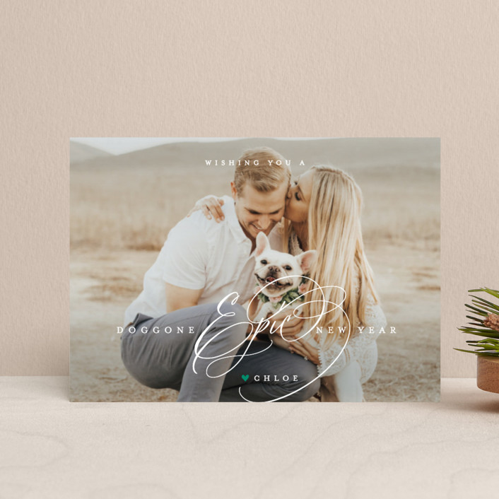 """pawsitively blessed"" - Holiday Petite Cards in Pine by Guess What Design Studio."