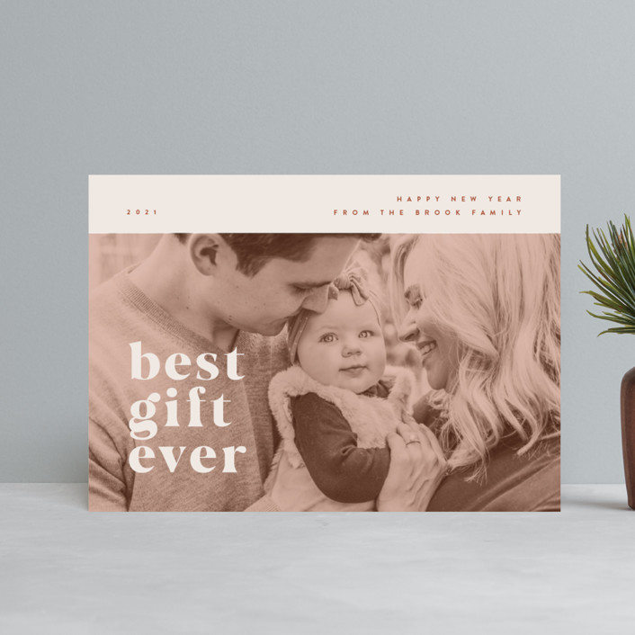 """""""our best gift ever"""" - Holiday Petite Cards in Chocolate by Anastasia Makarova."""