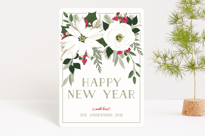 """Winter Blooms"" - Holiday Petite Cards in Crimson by Susan Moyal."