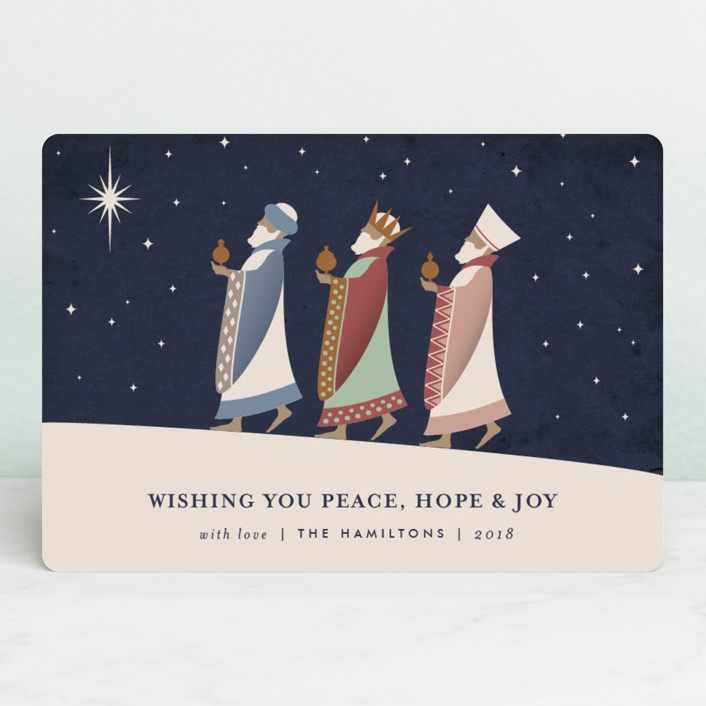 """The Magi"" - Vintage Holiday Petite Cards in Midnight by Kampai Designs."