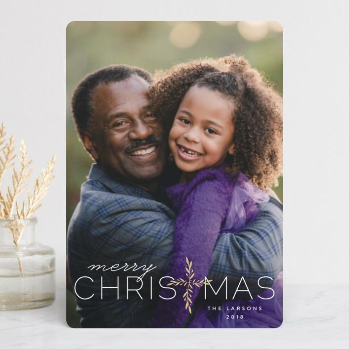 """Laurel Cross"" - Holiday Petite Cards in Birch by Lauren Chism."