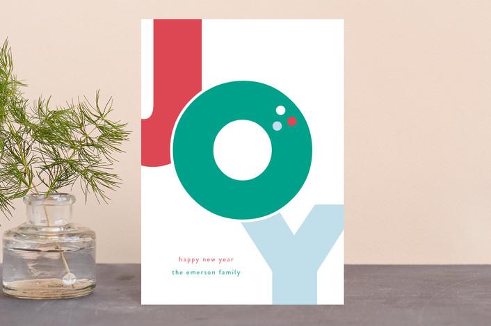 """""""Bold Joy"""" - Holiday Petite Cards in Fruitcake by lena barakat."""