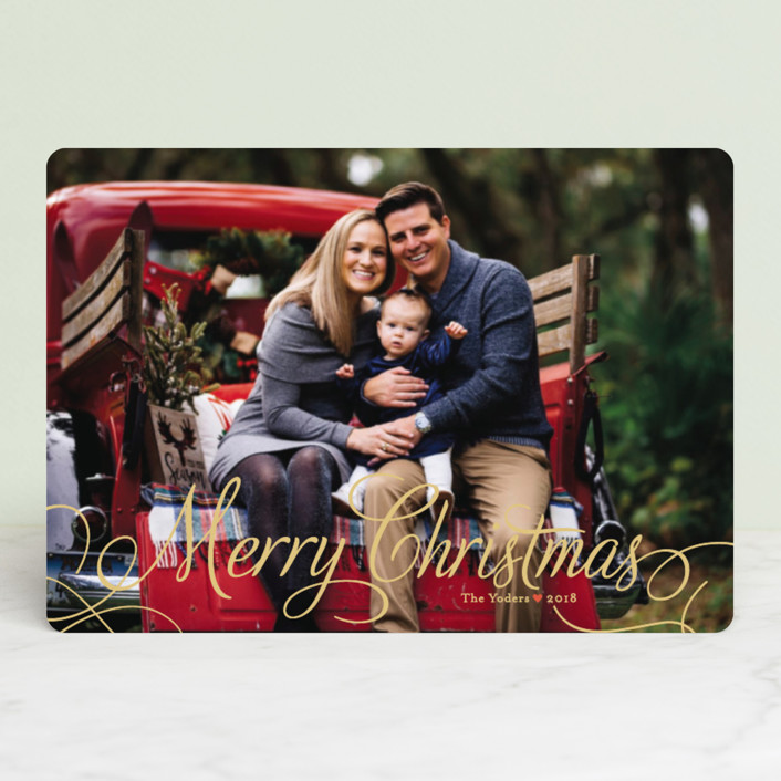 """Classic Merry"" - Holiday Petite Cards in Snow by Alston Wise."
