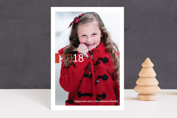 """Be Joyful"" - Modern, Minimalist Holiday Petite Cards in Crimson by Snow and Ivy."