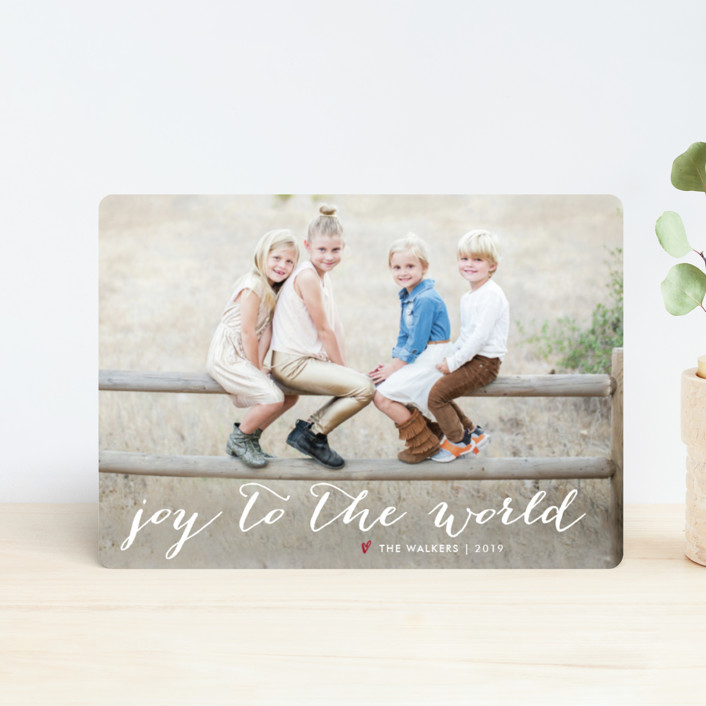 """Simple Joy"" - Holiday Petite Cards in Snow by Fig and Cotton."