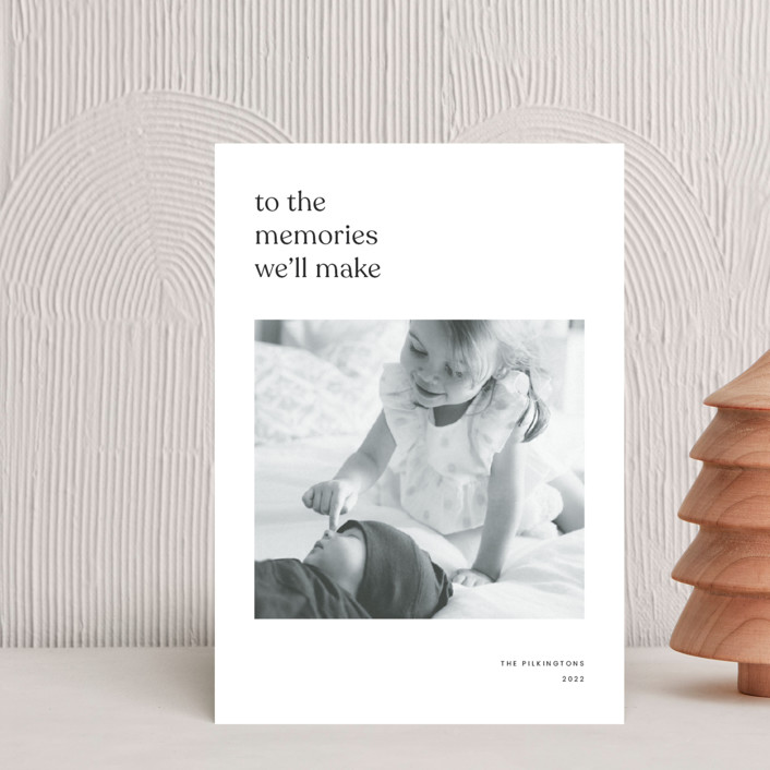"""""""To the memories we'll make"""" - Holiday Petite Cards in Charcoal by Blustery August."""