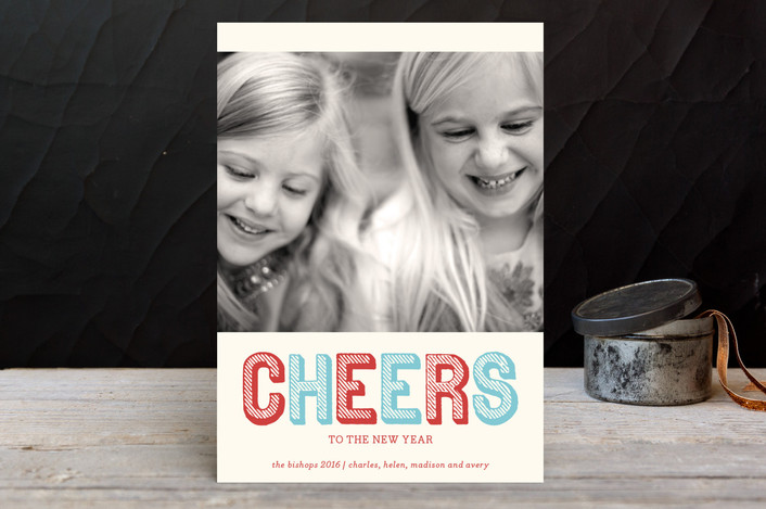 """""""Stripe Type"""" - Holiday Petite Cards in Azure by The Social Type."""