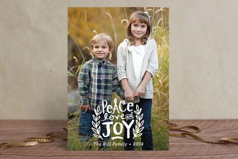 Peace Love and Joy Branches Holiday Petite Cards