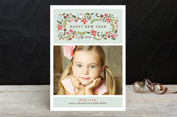 """""""Blushing Christmas"""" - Holiday Petite Cards in Mint by Jennifer Wick."""