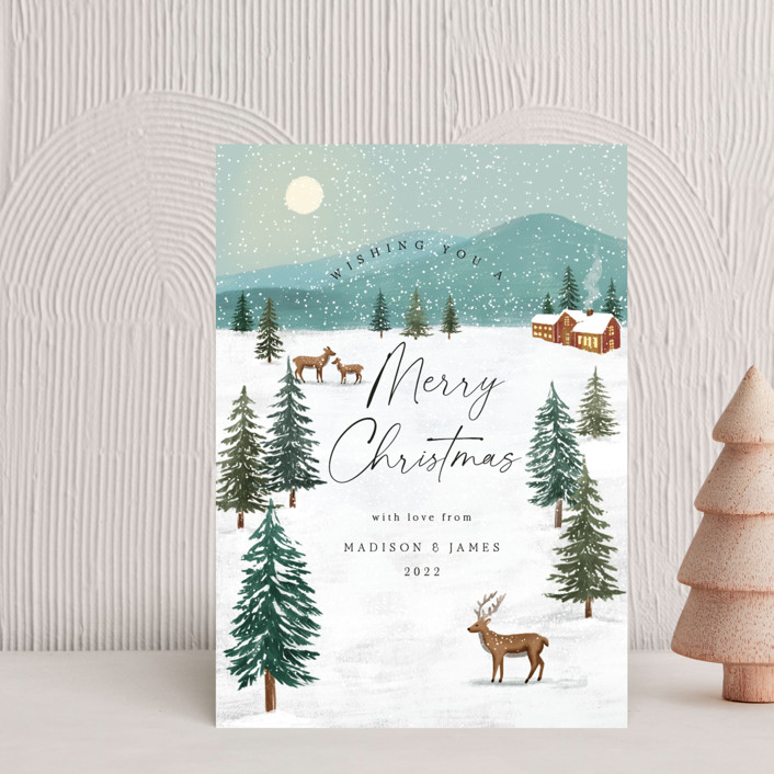 """""""Snowfall"""" - Vintage Holiday Petite Cards in Pine by Elly."""