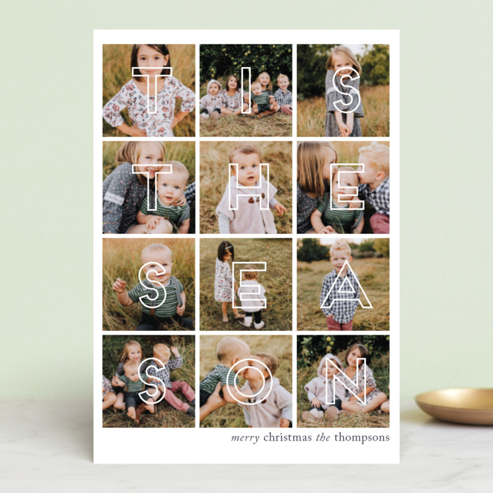 """Season of Photos"" - Holiday Petite Cards in Cranberry by Ashlee Townsend."