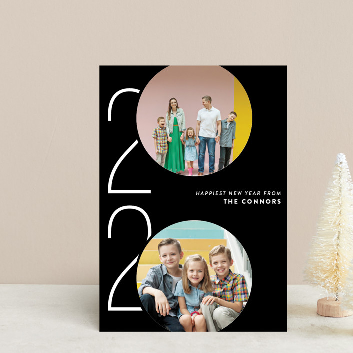 """""""Viginti"""" - Modern Holiday Petite Cards in Night by Ashley Hegarty."""
