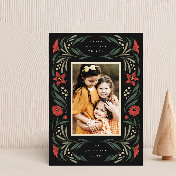 """""""Happy Holiday Frame"""" - Holiday Petite Cards in Pine by Grae."""