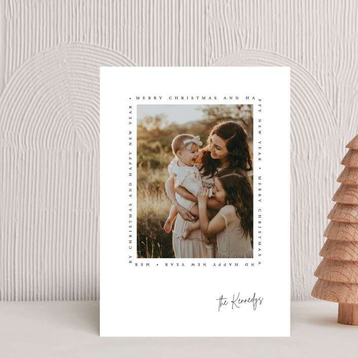 """""""Type Frame"""" - Holiday Petite Cards in Stone by Brianne Larsen."""