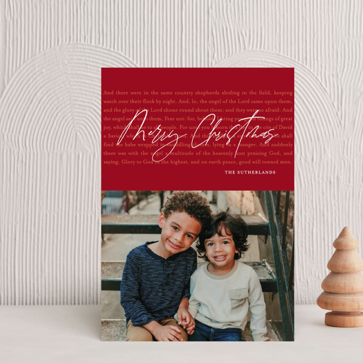 """""""Luke Chapter Two"""" - Holiday Petite Cards in Hot Cocoa by Jessica Williams."""
