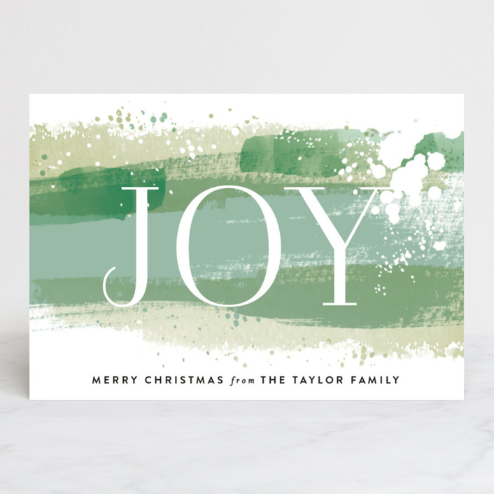 """""""Joy Paint Splash"""" - Holiday Petite Cards in Fern by Alethea and Ruth."""