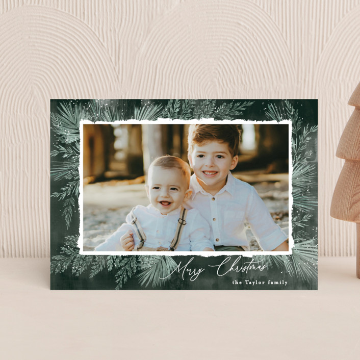 """""""Textured Pines"""" - Holiday Petite Cards in Pine by Alethea and Ruth."""