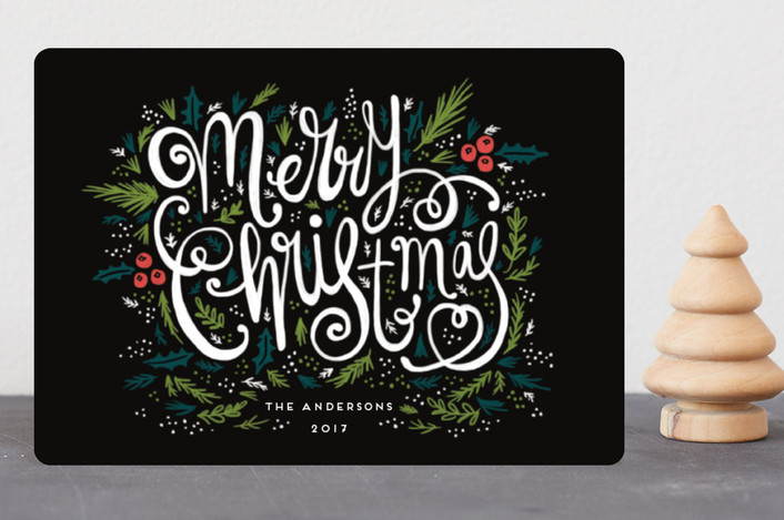 """Very Merry"" - Holiday Petite Cards in Midnight by iamtanya."